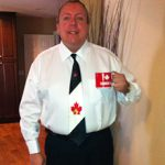 Chris Philpott on the day of his Canadian Citizenship Oath