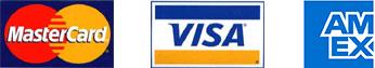 Master Card, Visa and AmEx